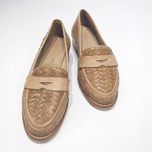 Sesto Meucci new woven leather loafers
